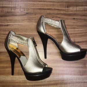 Michael Kors Gold Brown Stiletto Heels 7